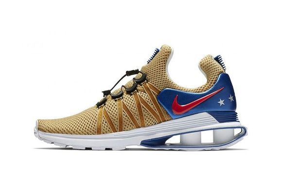 best website c4e48 51390 ... spain nike shox gravity usa closer look shoes kicks trainers sneakers  gold blue red silver stars