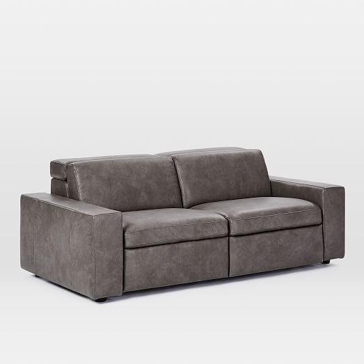 Enzo Reclining Sofa Set 25, Leather, Storm