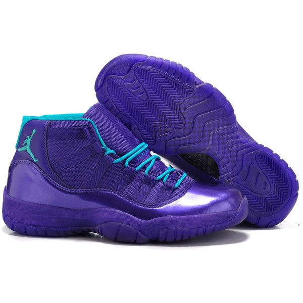cool air jordan 11 blue color ❤ liked on Polyvore featuring shoes, jordans and sneakers