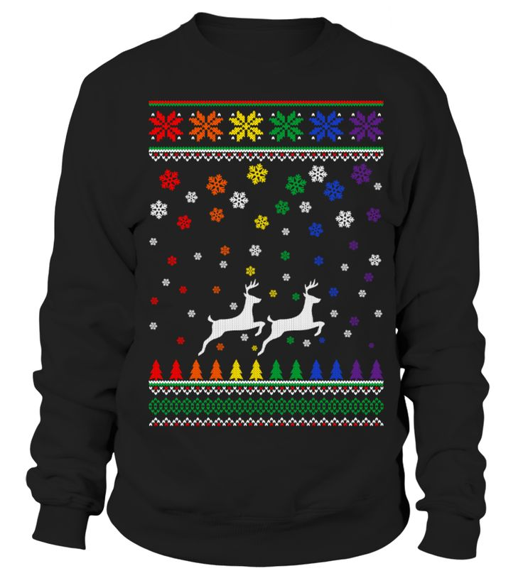 Through The Snow Together - LGBT #christmas #uglysweater  #love #LGBTQ