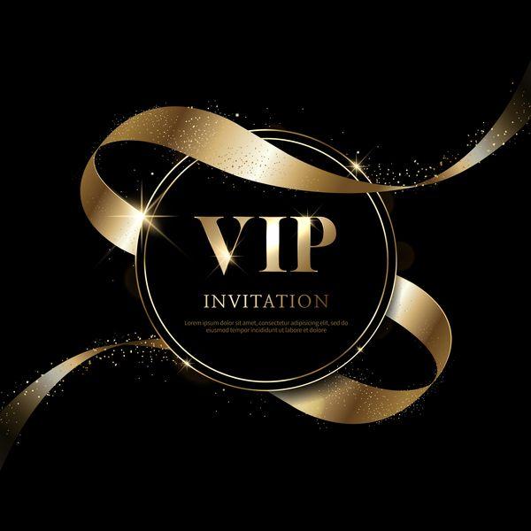 luxe noir avec or vecteur de carte d