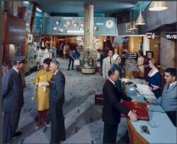 Reception area of Lennons Hotel, Brisbane, Queensland, 1965 [picture]