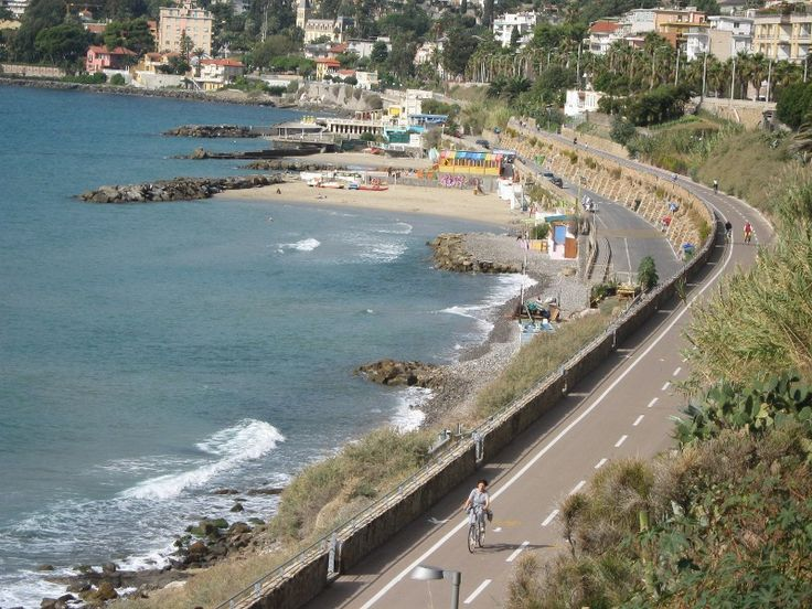 Radweg San Lorenzo San Remo - skaters can roll from San Lorenzo al Mare to San Remo along a former railway track.