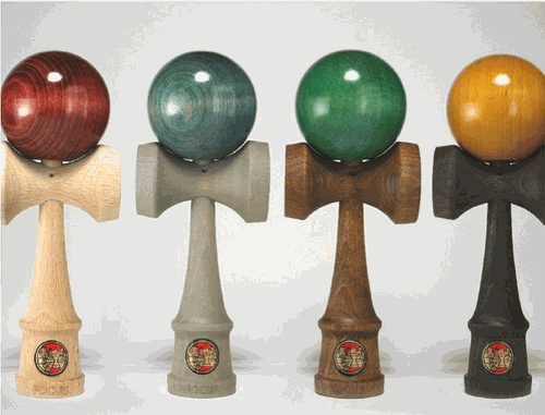"Wood Dyed Kendama by Sweets Kendamas - a ""new"" craze that is beautiful, ancient and doesn't involve a screen or batteries!"