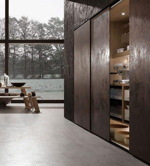 Neos design kitchen with concealed storage