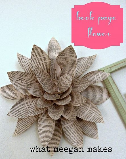 Make a flower from book pages