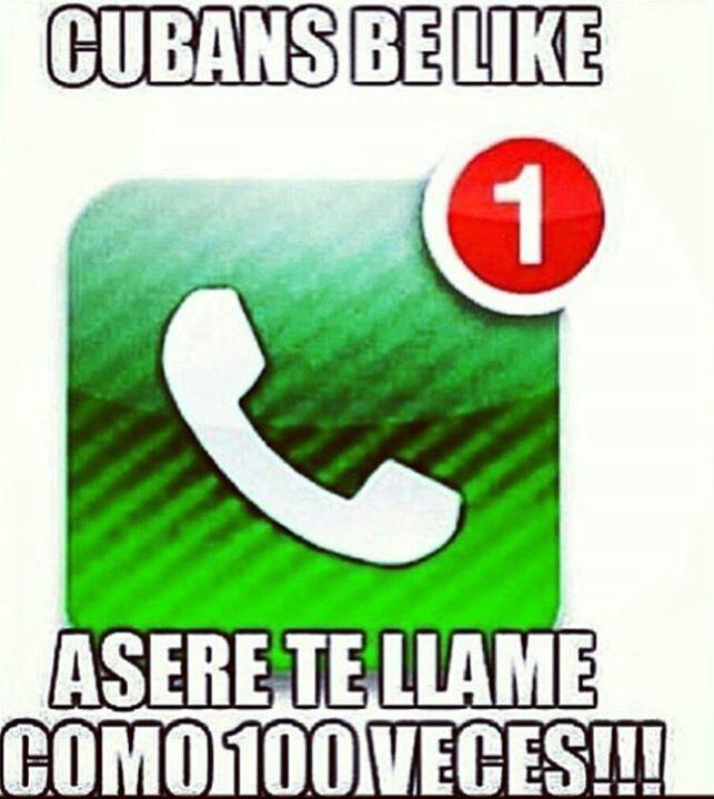 Cubans be like..