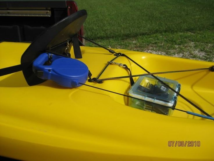 Diy ingenious kayak fishing anchor with a retractable dog for Diy kayak fishing accessories