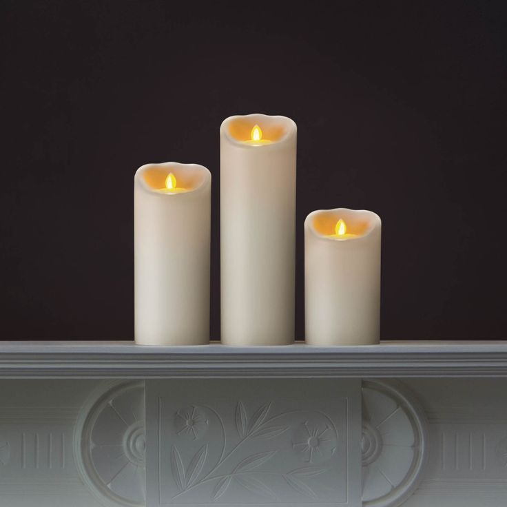 White Mirage LED Candles in 5, 7, and 9 inches by Candle Impressions #flamelesscandles