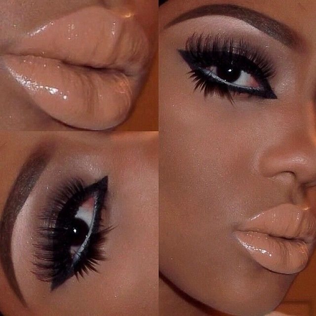 """""""Lashes, eyeliner, and nude lips"""" Photo taken by @theresafrancine on Instagram, pinned via the InstaPin iOS App! http://www.instapinapp.com (03/17/2014)"""