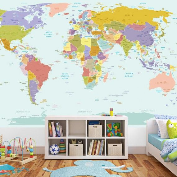 World-Map-Wall-Sticker