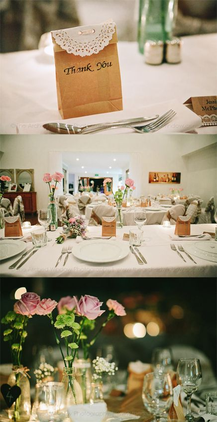 cute rustic touches that can be easily added to your wedding reception tables