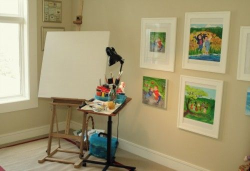 One half guest room, other half small art studio