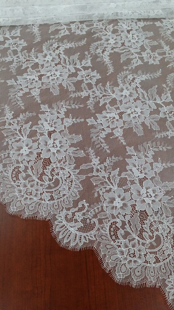 Off white Lace Fabric French Lace Chantilly Lace by LaceToLove 36$/yard