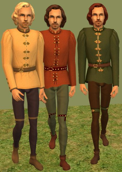 Mod The Sims - Medieval and Renaissance Doublets and Hose in Rugged Style