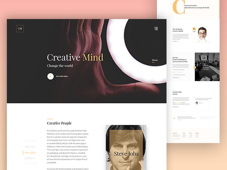 Creative Mind landing page