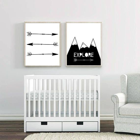 Set of 2, Explore, Arrow Wall Decor, Playroom Sign, Native American ...