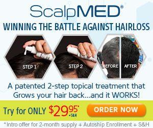 Scalp Med Secret Hair Loss Treatment  - Scalp Med Shampoo Grow Your Own Hair Back