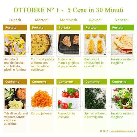 Ottobre N 1 – 5 cene veloci in 30 minuti   Una Mamma In Cucina