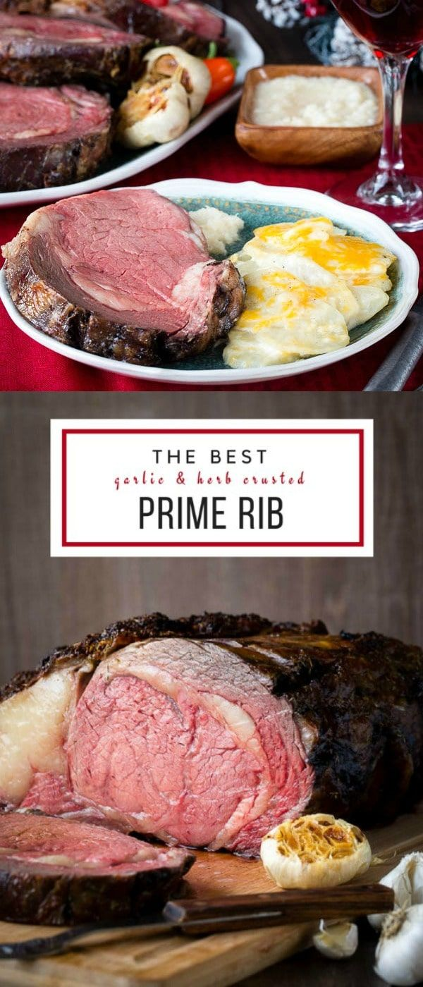Need to impress someone this Christmas season? Why not invite them over for a holiday dinner and serve this gorgeous masterpiece? #primerib #howtoroastprimerib #bonelessprimerib #christmasdinner