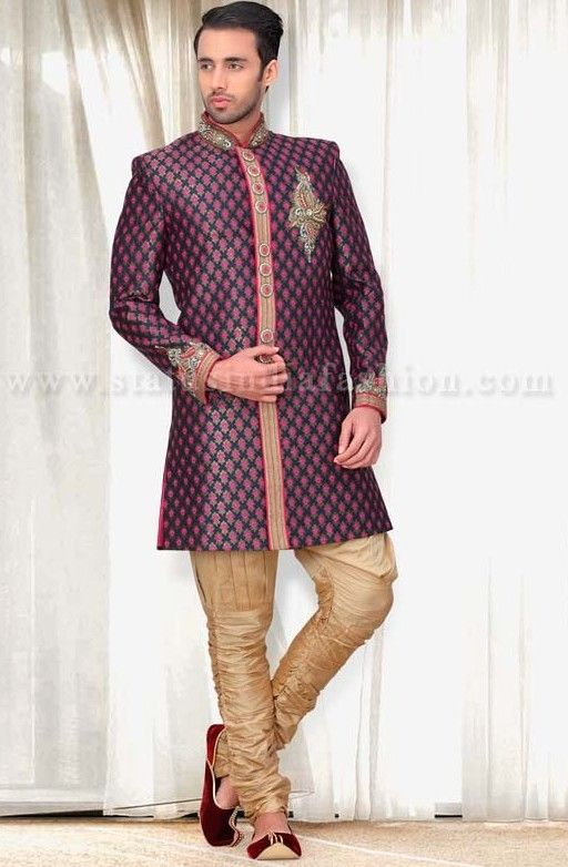 165 best images about mens indian wear groom sherwani for Indo western wedding dress for men