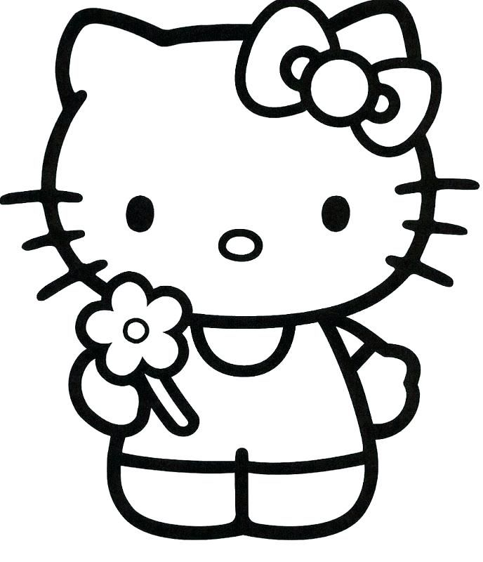 Pin On Hello Kitty Baby Coloring Pages