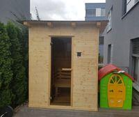 Venkovní sauna pultová střecha