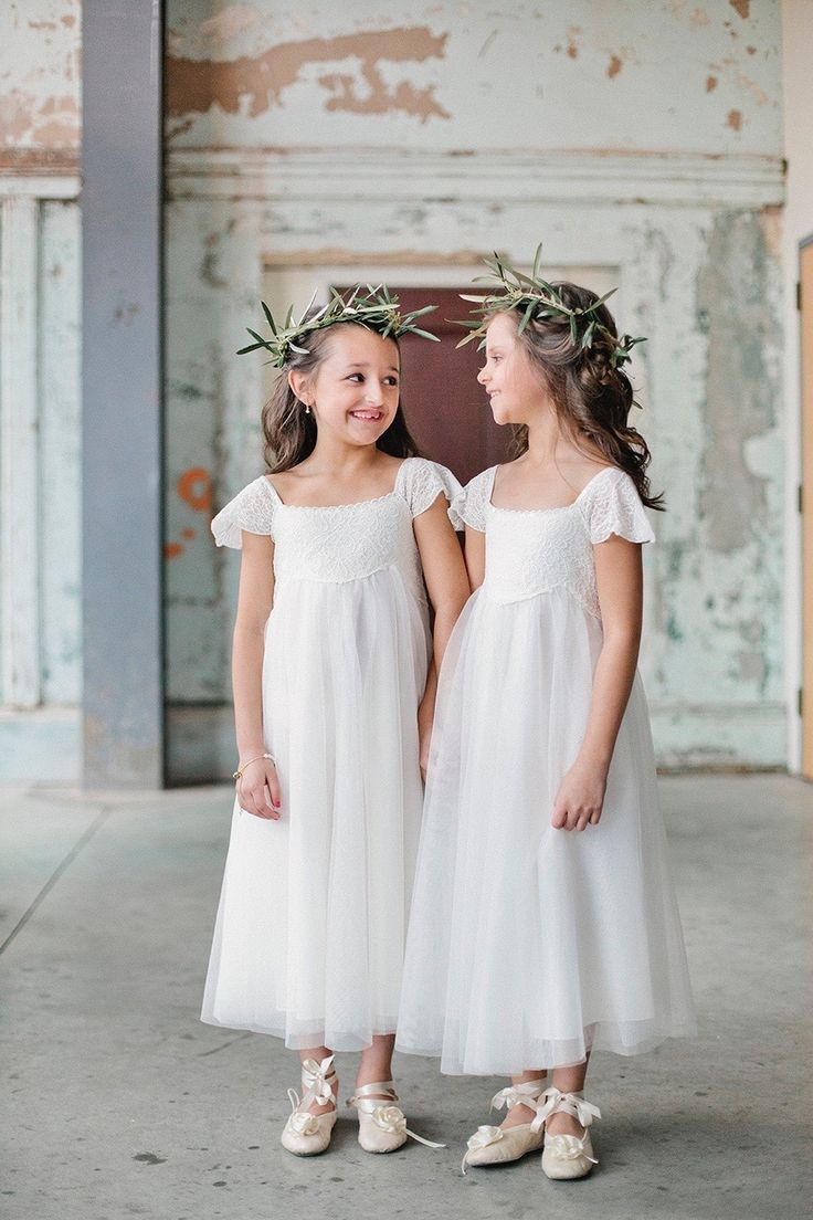 Simple flower girl dresses. Estella  Sparkle via Monsoon. Photography: Finch and Farrow - finchandfarrow.com