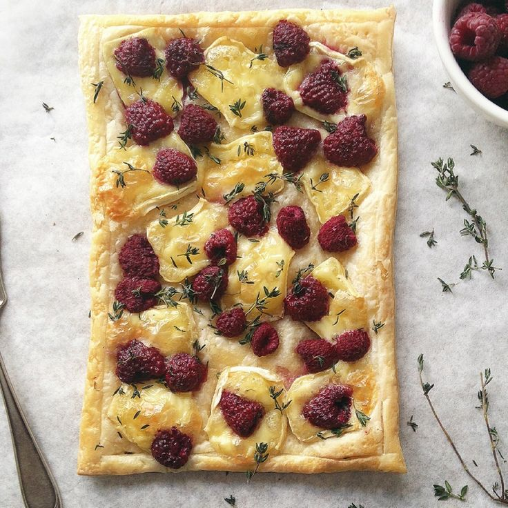 Brie and Raspberry Tart by lusya on #kitchenbowl