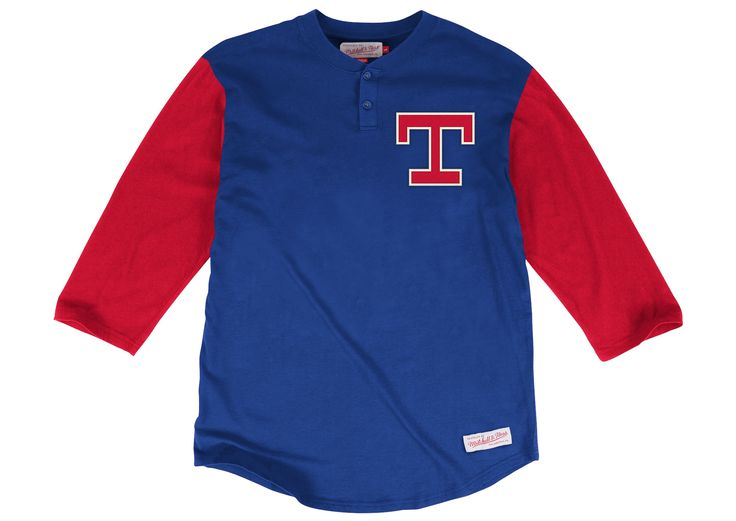 In The Clutch Henley Texas Rangers - Shop Mitchell & Ness MLB Shirts and Apparel