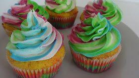 Bage-bloggen: Regnbue cupcakes