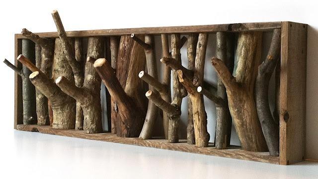 Natural wood rack