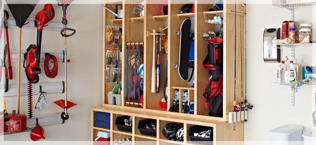sporting equipment storage