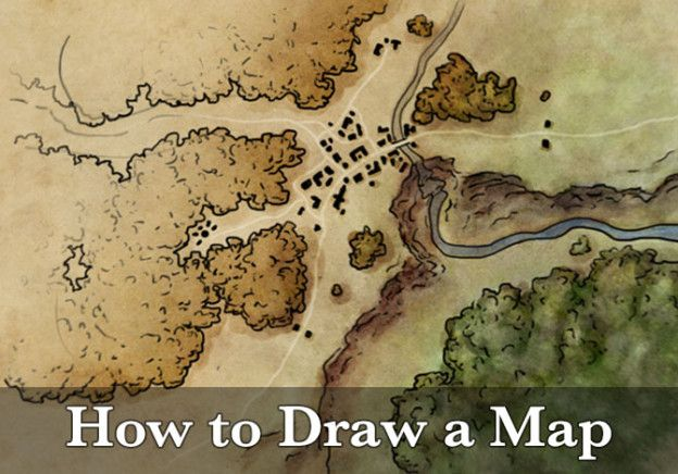 The full tutorial - how to draw a map. This goes start to finish through my process illustrating a map, including the photoshop file of the final map.