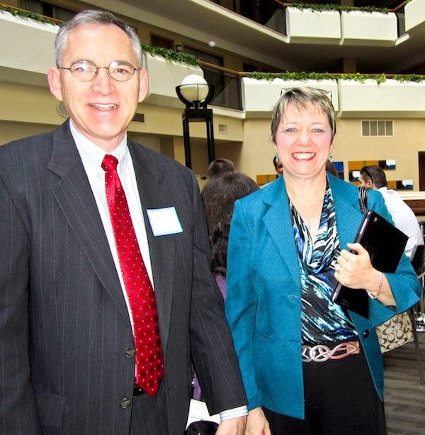 """At the March 1 luncheon of the Independent Public Relations Alliance, Kevin Fawley, """"chief hustle officer"""" of social media  company SoMeGo, talked about ways businesses can use social media to their advantage. Nearly 50 PR and marketing professionals from around the region attended the event, including Jay Morris of Jay Morris Communications and Kathi Rabil of Slice Inc."""