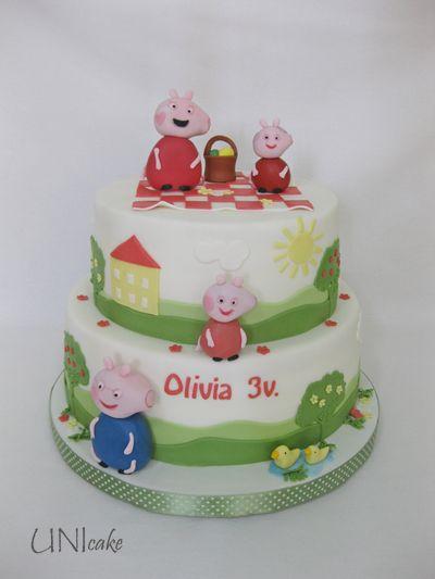 C221. Pipsa Possu -kakku. Peppa Pig cake