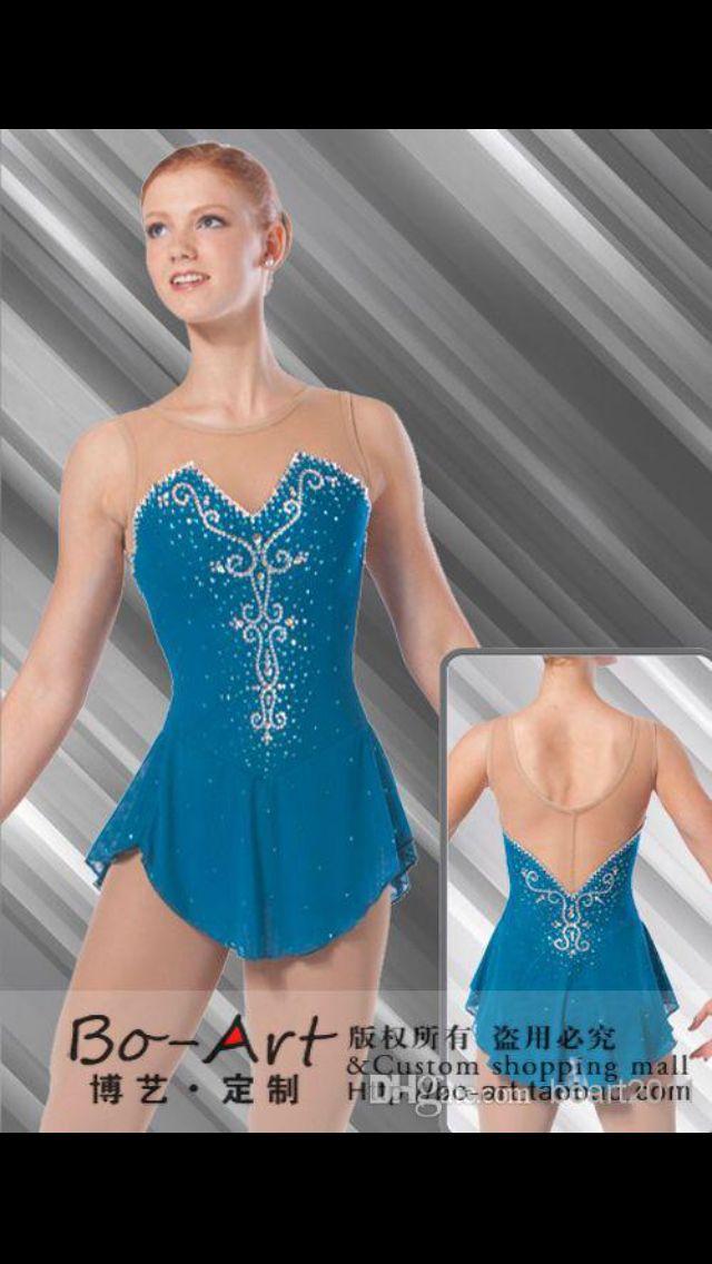 Design: Brad Griffies. Green Swarovski ice skating dress