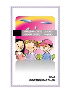 Manual didáctico para el desarrollo del lenguaje comprensivo y expresivo