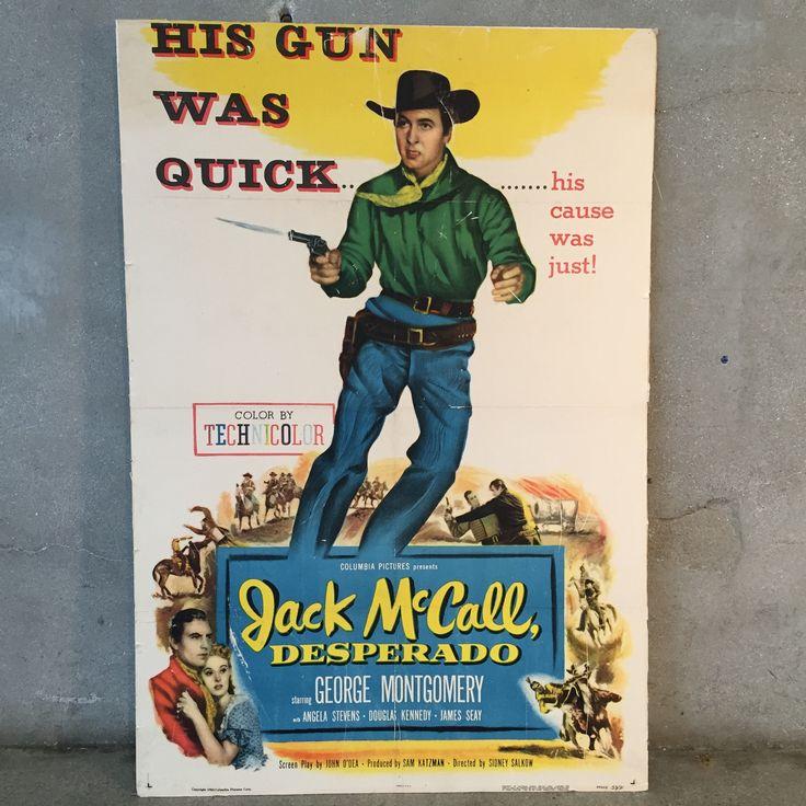 """Vintage Jack McCall """"Desperado"""" Poster"""