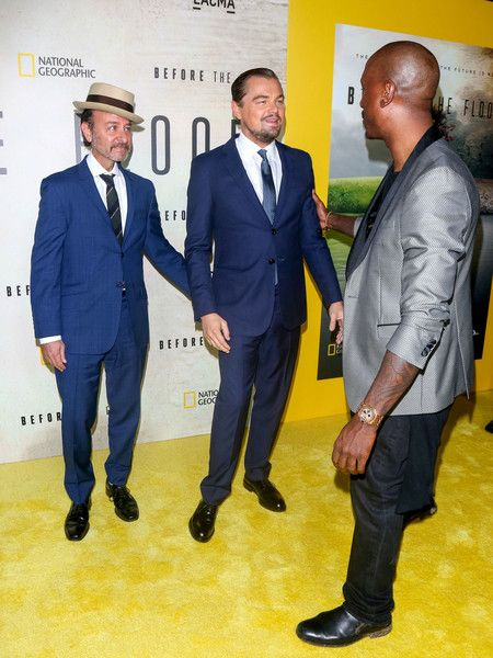 Leonardo DiCaprio Photos Photos - Fisher Stevens, Leonardo DiCaprio and Tyrese Gibson are seen attending screening of National Geographic Channel's 'Before The Flood' at Bing Theater at LACMA. - Leonardo DiCaprio Attends a Screening of National Geographic Channel's 'Before The Flood'
