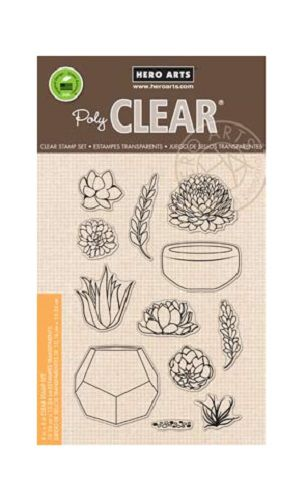 Hero Arts - Poly Clear - Clear Acrylic Stamps - Stamp Your Own Succulents