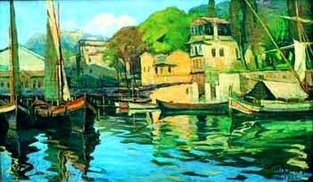 Ahmet Hikmet Onat,(d. 1882 İstanbul - ö. 1977 İstanbul), Türk ressam. Empresyonist akımın Türkiye'deki devamcılarından olan Hikmet Onat, Türk resim tarihinin büyük ustalarındandır. İlk öğreniminden sonra, Heybeliada Deniz Harp Okulu'nu 1903 yılında bitirdi. Bir süre güverte subayı olarak görev yaptı. Ruhi Arel ile birlikte Sanayi-i Nefise Mekteb-i Alisi'nde resim derslerine devam etti. Bahriye fotoğrafçısı Ali Sami Bey'in yanında çalıştı.