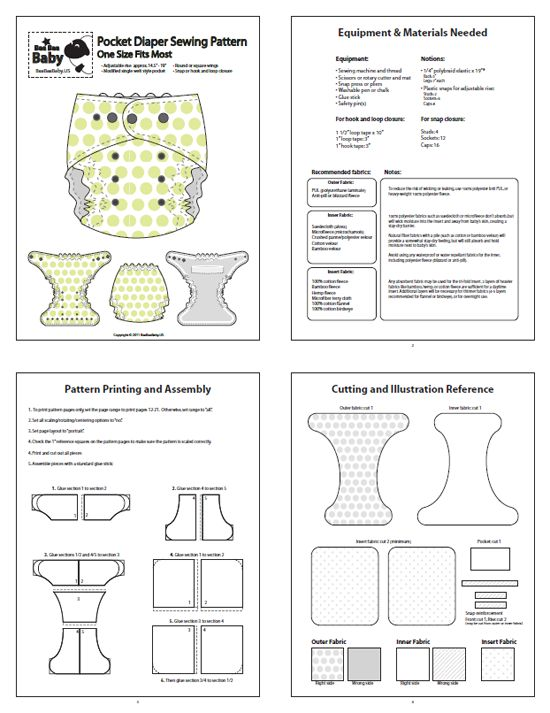 TrimFit One Size (OS)  Pocket Diaper Pattern $15. She gives permission to sell…