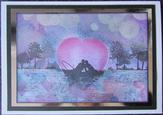 Romantic handmade card  Engagement Wedding by CraftyMrsPanky