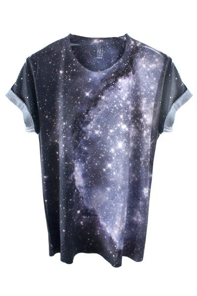 Galaxy Tee Shirt 100% Polyester tee featuring a real image of the Small…