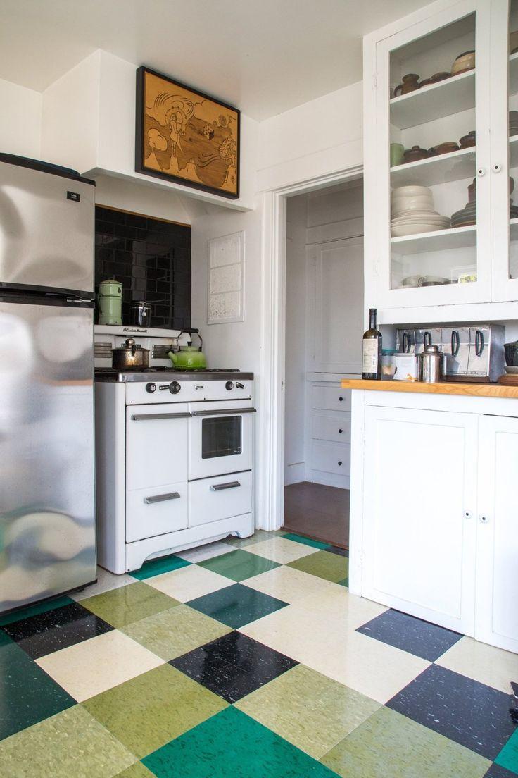 Linoleum kitchen flooring ideas - Erin S Eclectic Mystic Home Traveling Tarot Caravan Linoleum Kitchen Floorskitchen