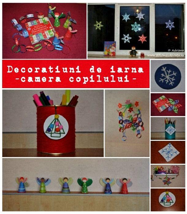 decoratiuni de iarna in camera copilului