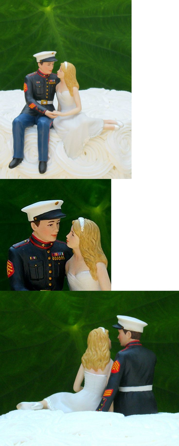 Wedding Cakes Toppers: Marine Corps Wedding Cake Topper By Magical Day -> BUY IT NOW ONLY: $36.99 on eBay!