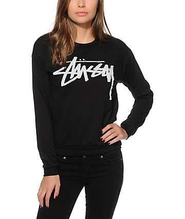 Stussy Over Stock Embroidered Crew Neck Sweatshirt