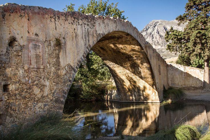 Old Preveli bridge to the Preveli Palm Forest/Beach, Crete, Greece.